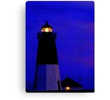 Point Judith Lighthouse, RI, USA Canvas Print