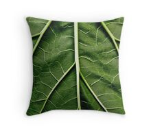 Rhubarb leaf Throw Pillow