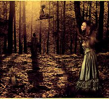 The girl with the crows by Igor Giamoniano