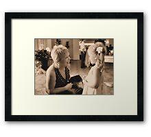 Girl Talk Framed Print