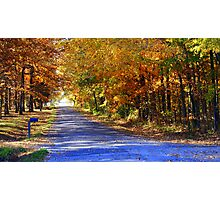 Country Roads in Autumn Colors Photographic Print