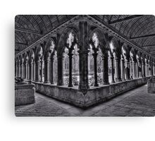 A corner of the cloisters, St Tugdual Cathedral, Tregier, Brittany, France Canvas Print