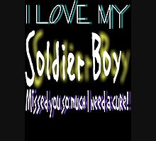 I Love My Soldier Boy Womens Fitted T-Shirt