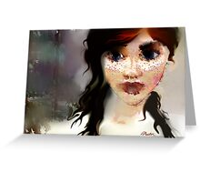 Rainy Days and Freckles Greeting Card