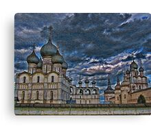 The Kremlin and The Cathedral. Rostov Velikiy. Russia. Canvas Print