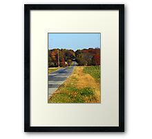 The Long Road home.... Framed Print