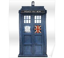 Police Box Union Jack Poster