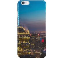 Sunset and City Lights iPhone Case/Skin
