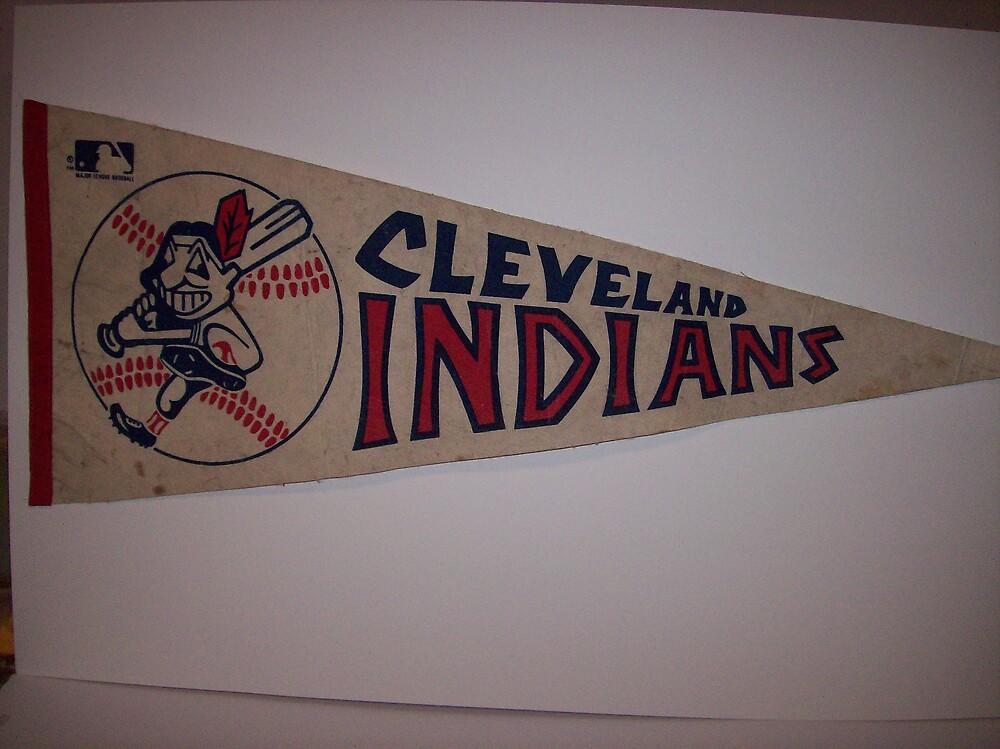 CLEVELAND INDIANS FLAG VINTAGE by monaruth