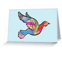 Psychedelic Dove Greeting Card