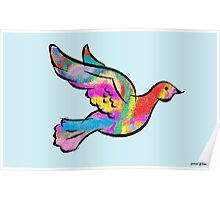 Psychedelic Dove Poster