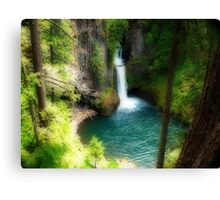 Waterfall In The Grotto Canvas Print