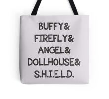 Whedon Shows Tote Bag