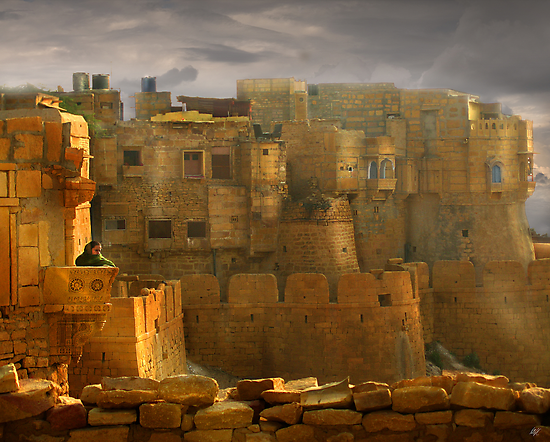 Lone Woman of Jaisalmer by Paul Vanzella