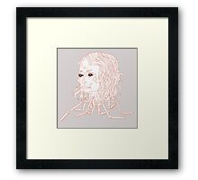 Spider head Framed Print