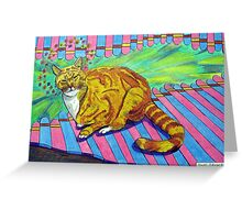 270 - MAO,THE SAINTLY CAT - DAVE EDWARDS - COLOURED PENCILS AND FINELINERS - 2009 Greeting Card
