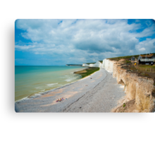 Seven Sisters from Birling Gap: East Sussex, UK Canvas Print