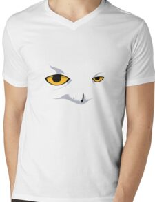 Snowy Owl Mens V-Neck T-Shirt