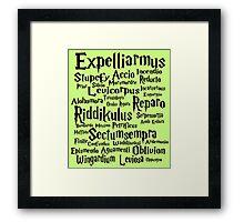 """Spells"" Framed Print"