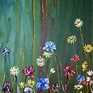 &#x27;Flowers on Green&#x27; by Vic Potter