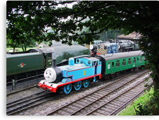 Thomas Leaves the Station  by Colin J Williams Photography