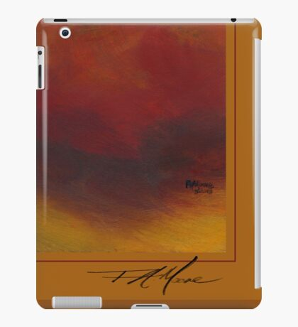 Minimum Red. FA Moore Signature design, in Pumpkin iPad Case/Skin