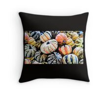 Squashes at a Farmer's Market Throw Pillow
