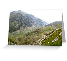 Across the Snowdon Valley Greeting Card