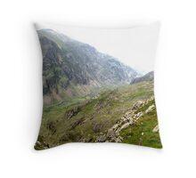 Across the Snowdon Valley Throw Pillow
