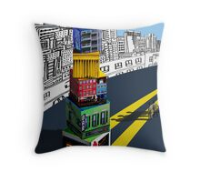City Blocks Throw Pillow