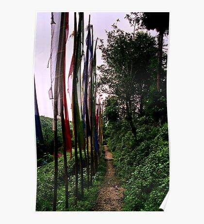 lungta, prayer flags. northenr sikkim, india Poster
