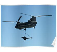 Chinook Helicopter over Australian International Airshow 2005 Poster
