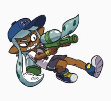 Splatoon Sticker - Inkling Girl (Teal) by SpencerBingham