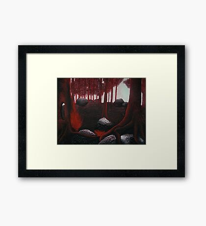 Monochrome Forest Painting Framed Print