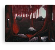 Monochrome Forest Painting Canvas Print