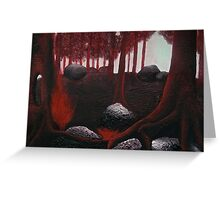 Monochrome Forest Painting Greeting Card