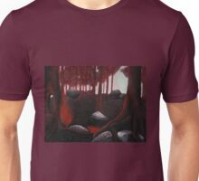 Monochrome Forest Painting Unisex T-Shirt