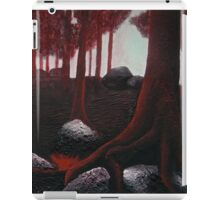 Monochrome Forest Painting iPad Case/Skin