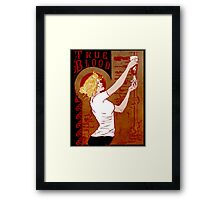 True Blood Nouveau red Framed Print