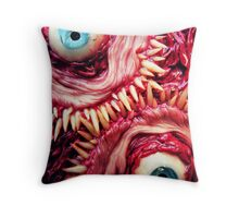 tooth beast Throw Pillow