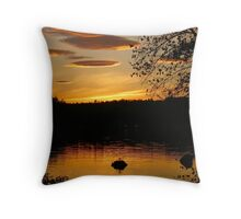 Sunset Over the Pennesseewassee Throw Pillow