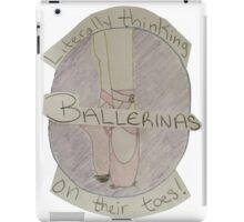 Funky Ballerina Artwork iPad Case/Skin