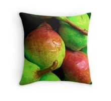 Pears at the Farmer's Market Throw Pillow