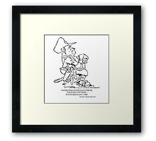Theodore Roosevelt:  RIGHT versus WRONG.... Framed Print