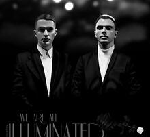 We Are All Illuminated (BW) - HURTS  by ifourdezign