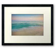 Sunset Tidal Framed Print