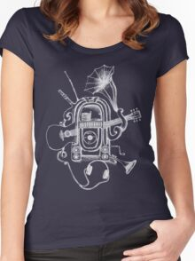 The Music Machine For Dark Shirts Women's Fitted Scoop T-Shirt