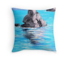 Stone of the Ocean Throw Pillow