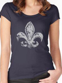 Grunge Fleur De Lis Women's Fitted Scoop T-Shirt