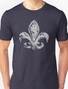 Grunge Fleur De Lis Unisex T-Shirt